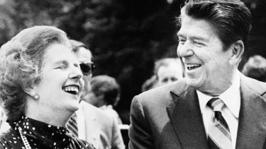 US President Ronald Reagan and British Prime Minister Margaret Thatcher pushed privatisation and deregulation.