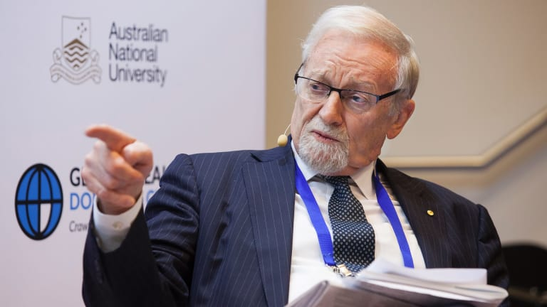 Australian National University Chancellor Gareth Evans.