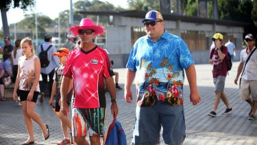 Not all fun and games: fans arrive for a BBL game last summer.