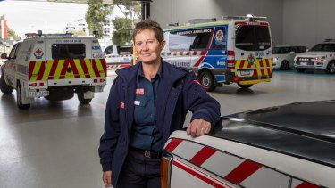 Andrea Wyatt is one of first two paramedics to join Ambulance Victoria 30 years ago.