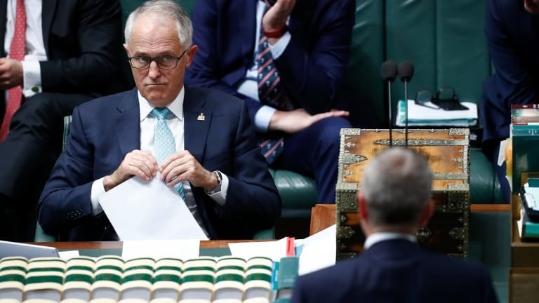 Prime Minister Malcolm Turnbull and Opposition Leader Bill Shorten during question time on Wednesday.