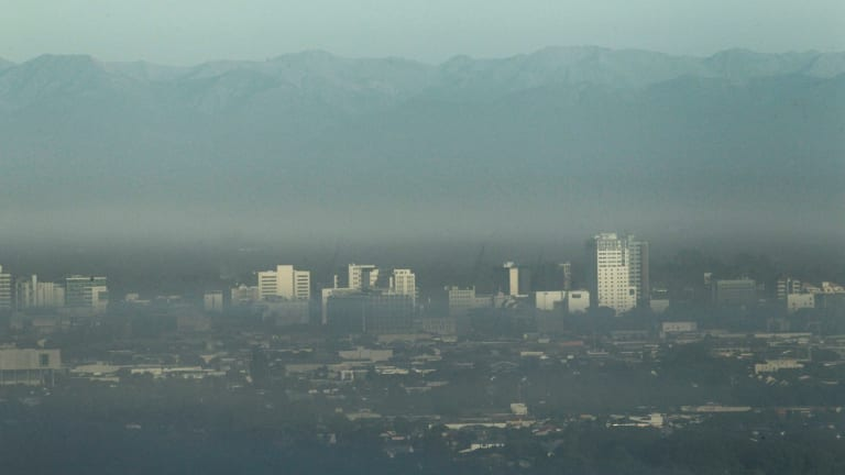 Air pollution over Christchurch: In 2012 the World Health Organisation estimated around 7 million people died as a result of air pollution exposure.