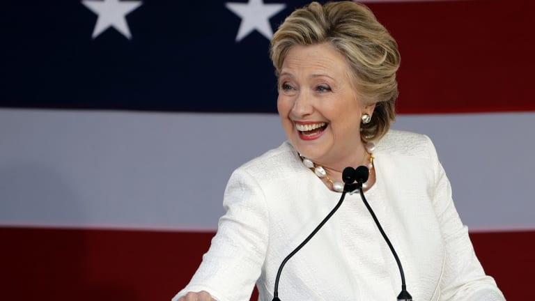 It is going to be a narrow fight to the finish for Hillary Clinton.