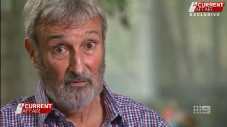 Screenshot from A Current Affair's interview with Don Burke over allegations of sexual harassment and bullying, in alleged incidences dating back more than a quarter of a century ago. 27 November 2017.