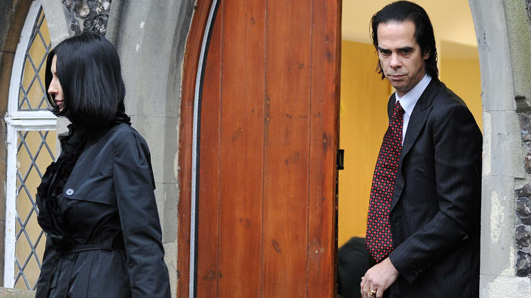 Nick Cave and Susie Bick attend the inquest into the death of their son, Arthur.