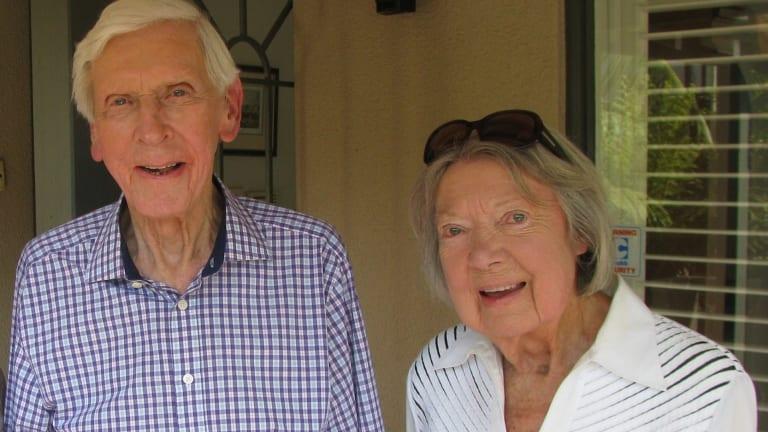 Korean POW Group Captain Gordon Harvey and wife Mikie.