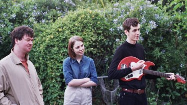 Recent school-leavers the Goon Sax, whose debut album <i>Up for Anything</i> explores authentic youthful preoccupations.