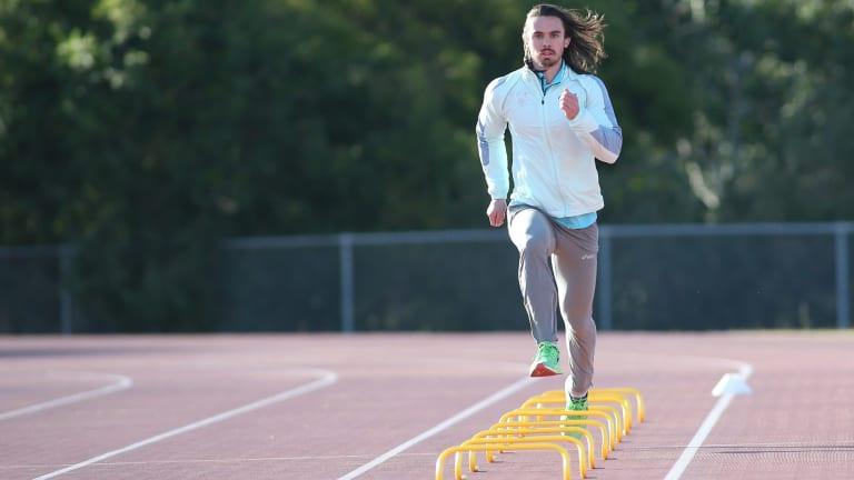 Josh Clarke in training at Blacktown International Sportspark.