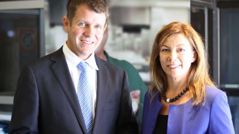 Karen Howard and NSW Premier Mike Baird.
