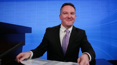 Chris Bowen will debate Treasurer Scott Morrison on Friday.