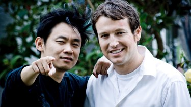 <i>Saw</i> creators James Wan, left, and Leigh Whannell in 2014.