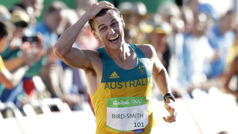 Overjoyed: Dane Bird-Smith.