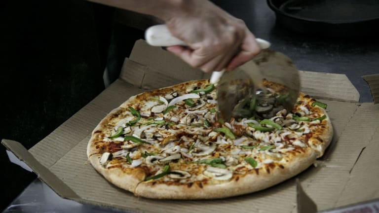 Deutsche Bank says Domino's is set to downsize its pizzas.