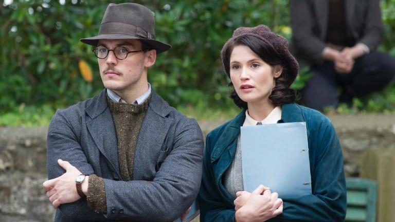 Sam Clafin, channeling Nicholas Hoult, with Gemma Arterton in Their Finest.