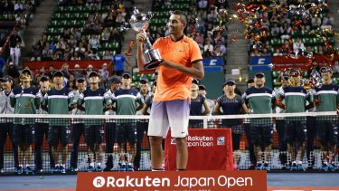 Another one: Nick Kyrgios claimed his third tournament victory of 2016.