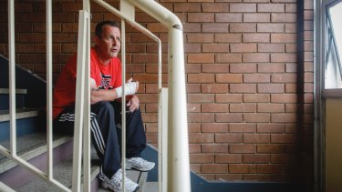 Stuart Flats resident Christian Nicholson is contesting an eviction notice.