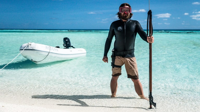 """""""I learnt to walk on a boat in the Solomon Islands,"""" Cropp says of his seafaring childhood."""