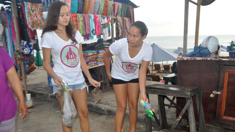Balinese sisters Melati and Isabel Wijsen have pushed for an end to use of plastic bags.