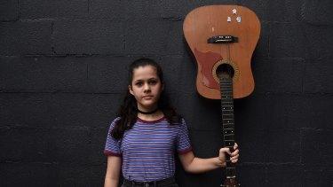 Mia Betteridge is attending the first Girls Rock! Sydney event, a week-long music empowerment program.