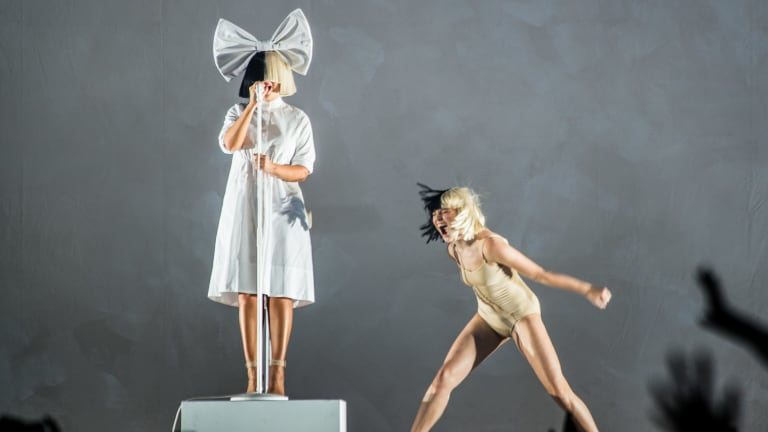 Sia and Ziegler in Melbourne on her Nostalgic For The Present tour.