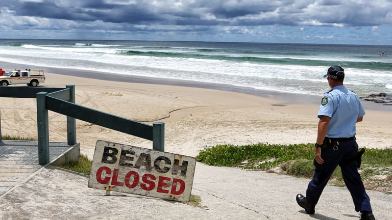 Beach closed: Shelly Beach