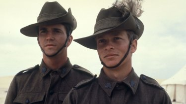 Mel Gibson and Mark Lee in Peter Weir's <i>Gallipoli</i>.