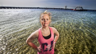 Phoebe Mitchell will run in The Sunday Age City2Sea to raise money for Down Syndrome Victoria.