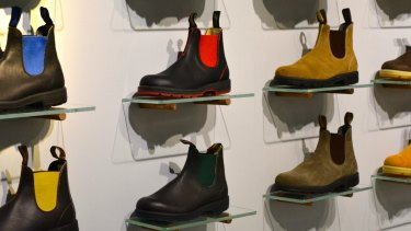 Colourful Blundstone boots are popular in Europe with  creative city-dwellers.