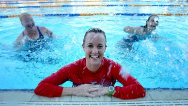 Instructor Laura May, who knows Auslan, offers swim lessons to deaf children  and adults.