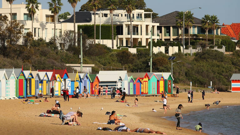 Big houses, palm trees - Brighton's beaches are just a short ride from the CBD.