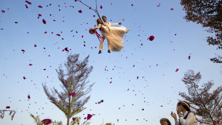 Leap of faith: Some believe that it's the one day of the year when a woman can ask a man for his hand in marriage.