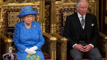 The Queen and Prince Charles, instead of his father, attend the state opening of Parliament.