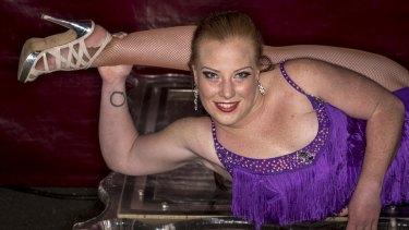 Eroni's Circus contortionist Lara Caitlin Nilon-Pobjoy.