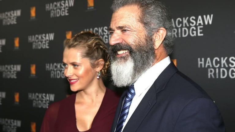 Teresa Palmer and Mel Gibson at the Australian Premiere of <i>Hacksaw Ridge</i>