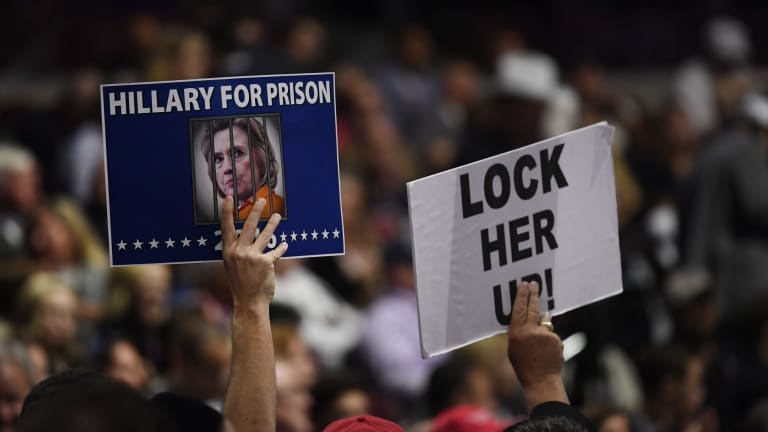 Despite pushing for Hillary Clinton to be locked up during the campaign, Trump has since back-pedalled on this plan.