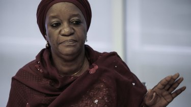 Zainab Bangura, the United Nations special representative on sexual violence in conflict.