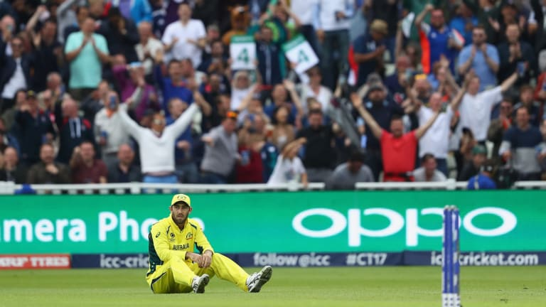 Glenn Maxwell after adding to Australia's tally of dropped catches.