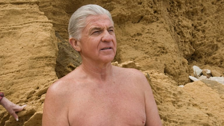 Normie Rowe as Harold Holt in <i>The Prime Minister is Missing</i>.