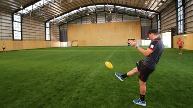"""Essendon's training facility, known as """"the hanger"""", was unveiled in 2013."""