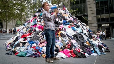 Disposable fashion: Australians discard a combined six tonnes of clothing every 10 minutes.