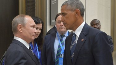 Vladimir Putin and Barack Obama face-to-face at the at G20 in September.