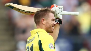David Warner and his meaty Kaboom willow are set to be cut down to size.