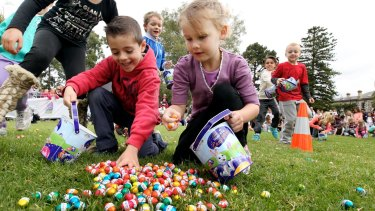 The Cadbury Easter Egg Hunt at Werribee Mansion in 2013. The event has been running for 10 years.