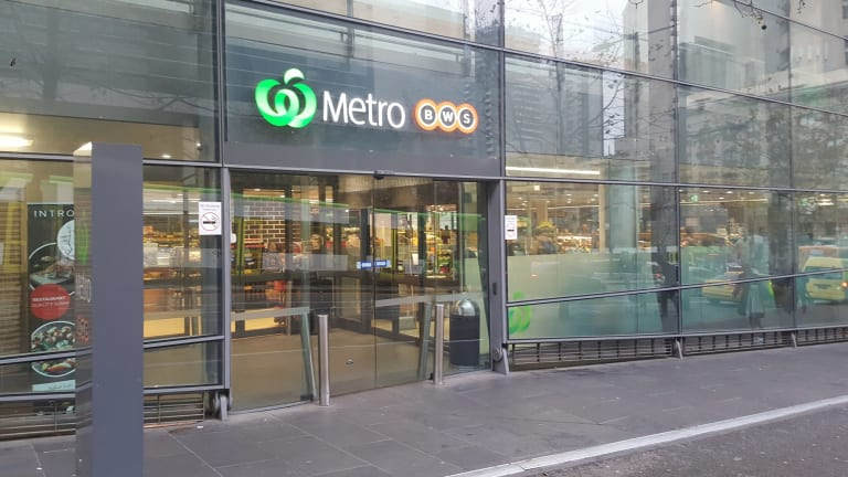 The Woolworths Metro at Southern Cross Station, Melbourne.