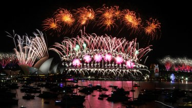 Last year's New Year's Eve fireworks on Sydney Harbour.
