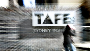 There were 30,000 fewer TAFE enrolments last year.