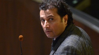 Costa Concordia's captain Francesco Schettino at court in Grosseto, Italy.