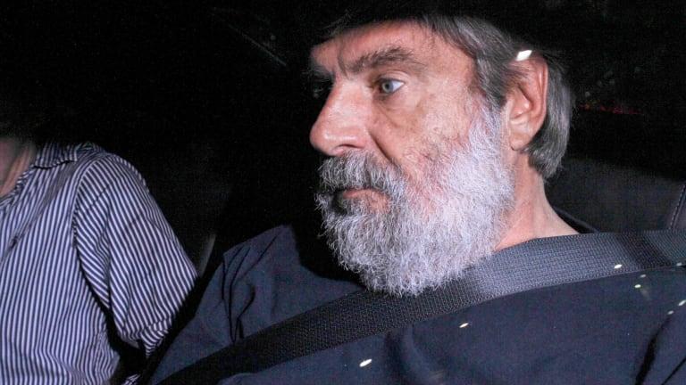 Thomas Lang, the man accused of killing Brisbane socialite Maureen Boyce, following his arrest.