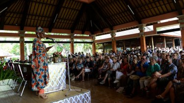 An Ubud Writers and Readers Festival session that went ahead.