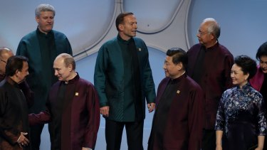 Prime Minister Tony Abbott with APEC Leaders.